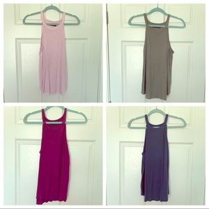 Bundle of four Abercrombie and Fitch tank tops